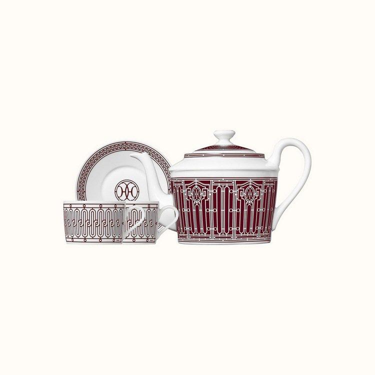 H Déco Rouge餐瓷系列茶具組(1個茶壺+2組茶杯組),26,540元。...