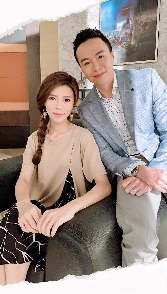 吳鈴山(右)與張懷媗戲中上演婚外情。圖/摘自臉書