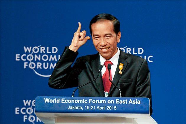 印尼總統佐科威在世界經濟論壇上發表言論。 圖片來源:天下雜誌