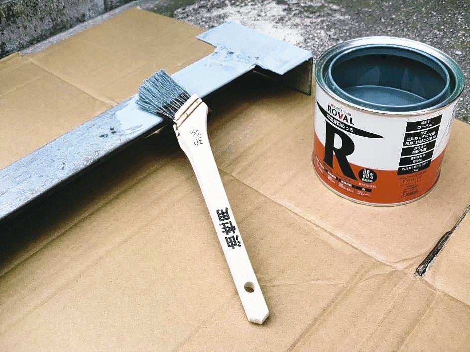 金屬製品使用ROVAL冷鍍鋅防鏽塗料,達到防鏽與美觀的效果。 美力華/提供