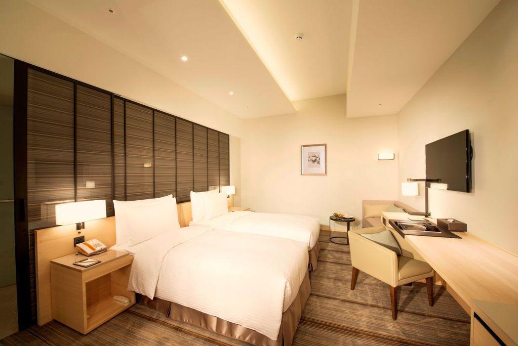 和逸飯店高雄中山館舒適客房雙人房。  和逸飯店 提供