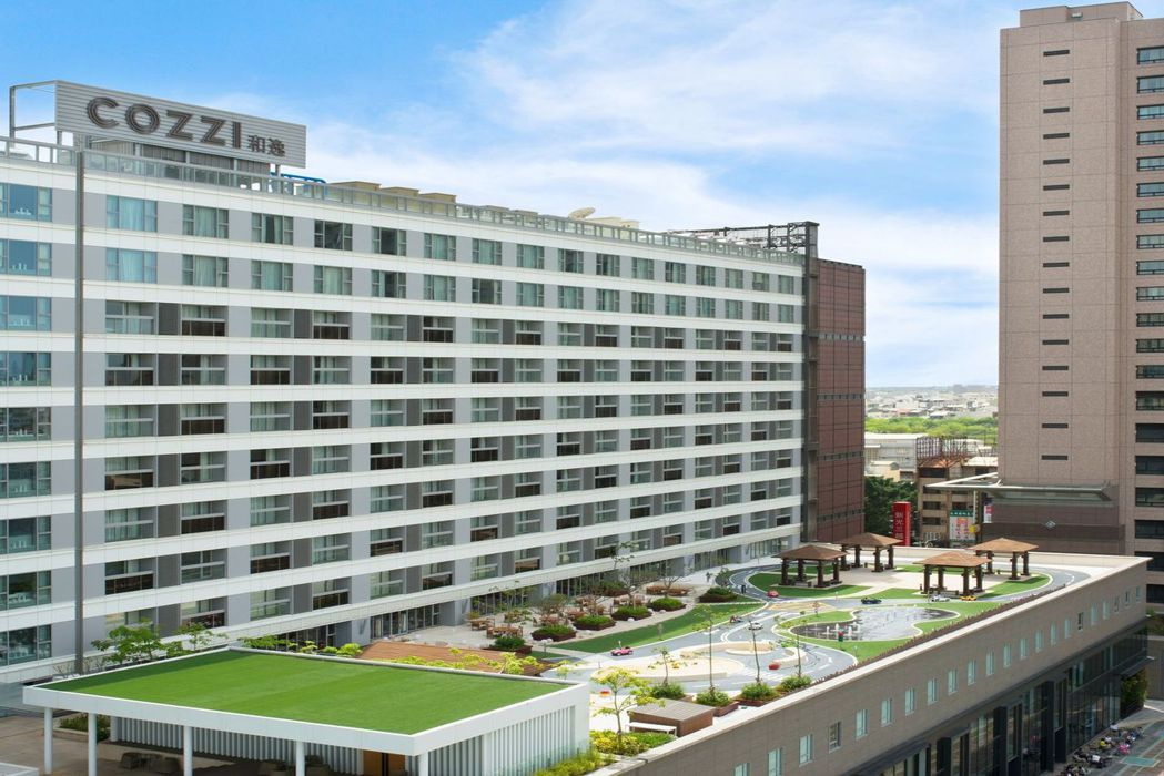 和逸飯店台南西門館奇趣操場遠景。  和逸飯店 提供