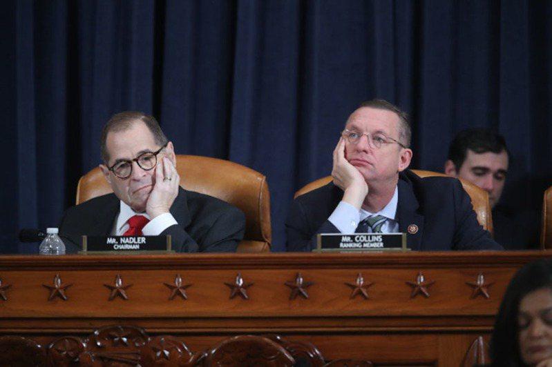 美國司法委員會主席納德勒(左)。美聯社