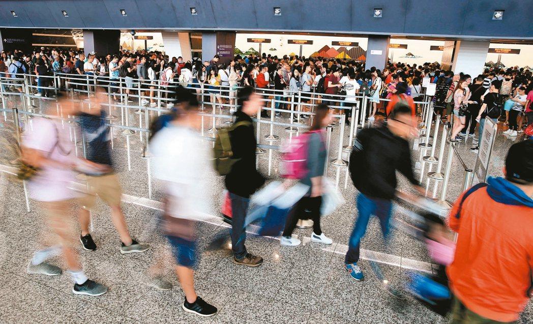 今年來台旅客近日可望突破去年全年的1106萬人次。 本報資料照片