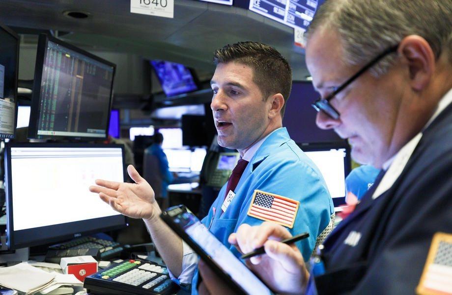 美股今天回檔,道瓊工業指數下挫逾百點。歐新社資料照