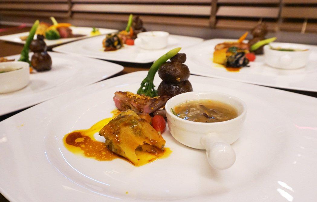 鵝肉料理新廚神由八寶澄塔香御鵝奪下冠軍第一名作品。 中華民國養鵝協會/提供