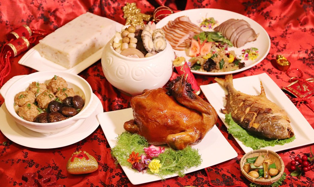 維多麗亞酒店外帶年菜-六人份年菜套餐。業者/提供
