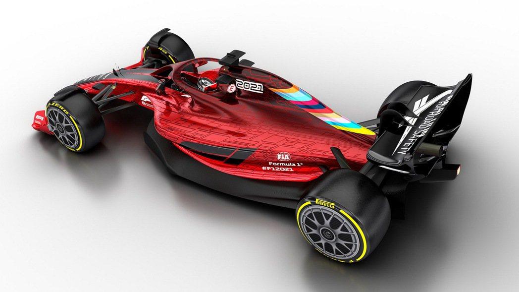 2021年 F1 賽車相較於現行款將有相當程度的變革。 摘自F1