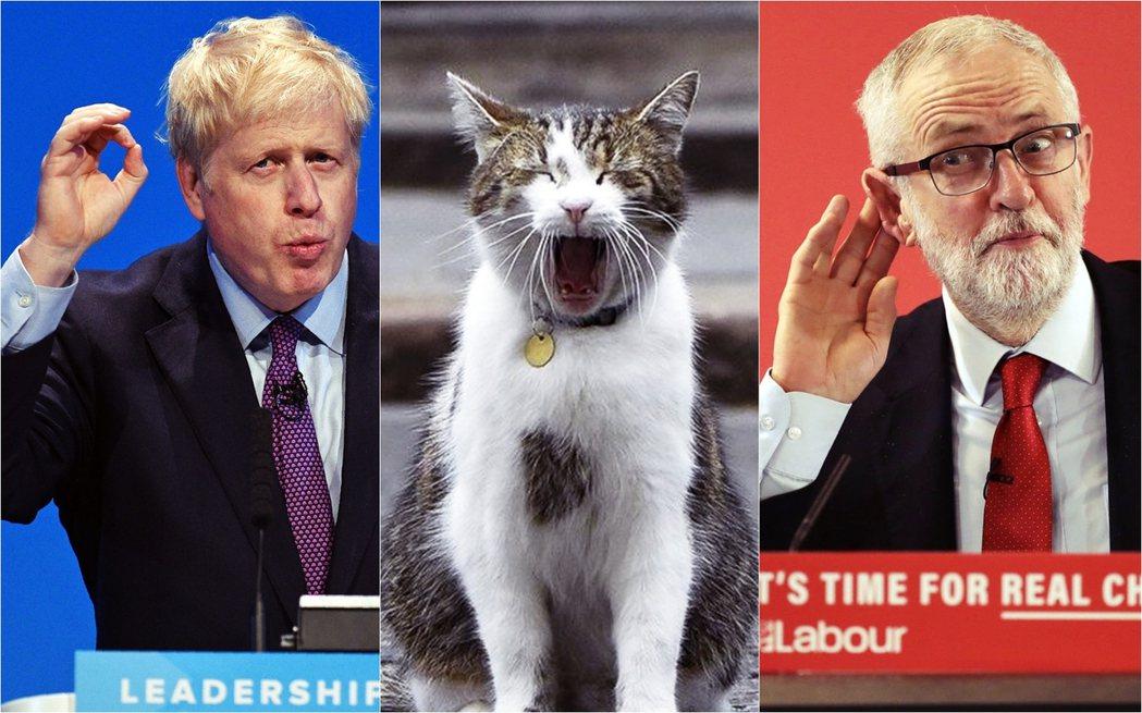 保守黨、工黨一樣爛,只能含淚投票? 圖/保守黨、工黨宣傳圖、路透社組圖
