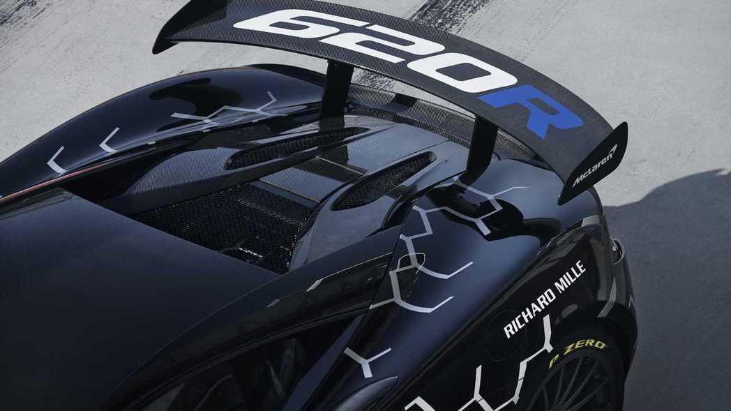 搭載GT4賽車的可調式尾翼。 圖/McLaren提供