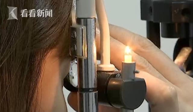 廣東一名女子因眼睛過度使用,出現視網膜積水現象。圖/看看新聞