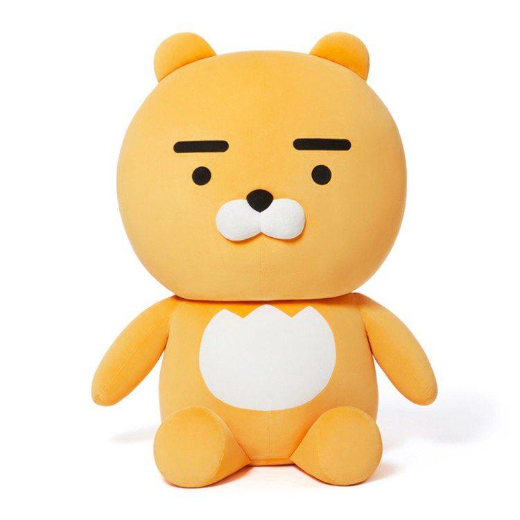 KAKAO FRIENDS的巨大萊恩玩偶超可愛。圖/摘自KAKAO FRIEND...