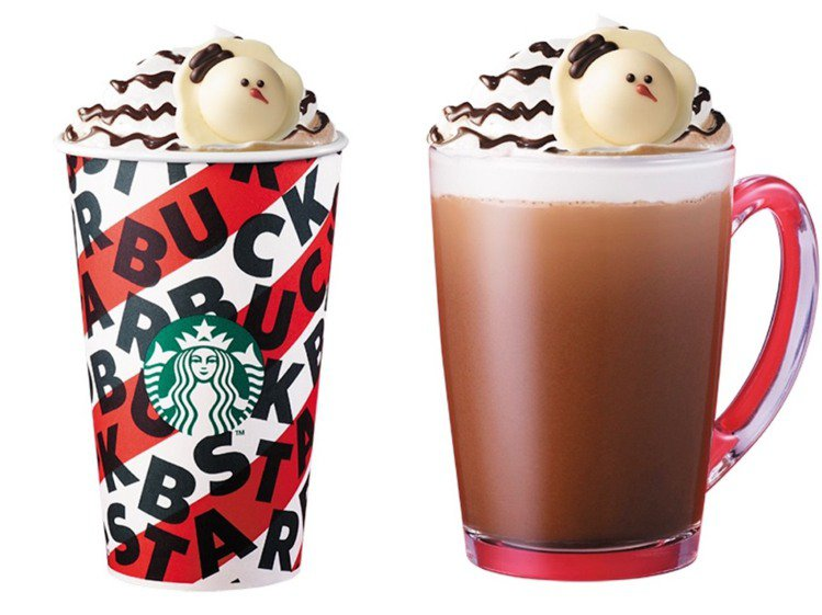 新品「耶誕雪人巧克力那堤」12/11限期開賣,售完為止。圖/星巴克提供