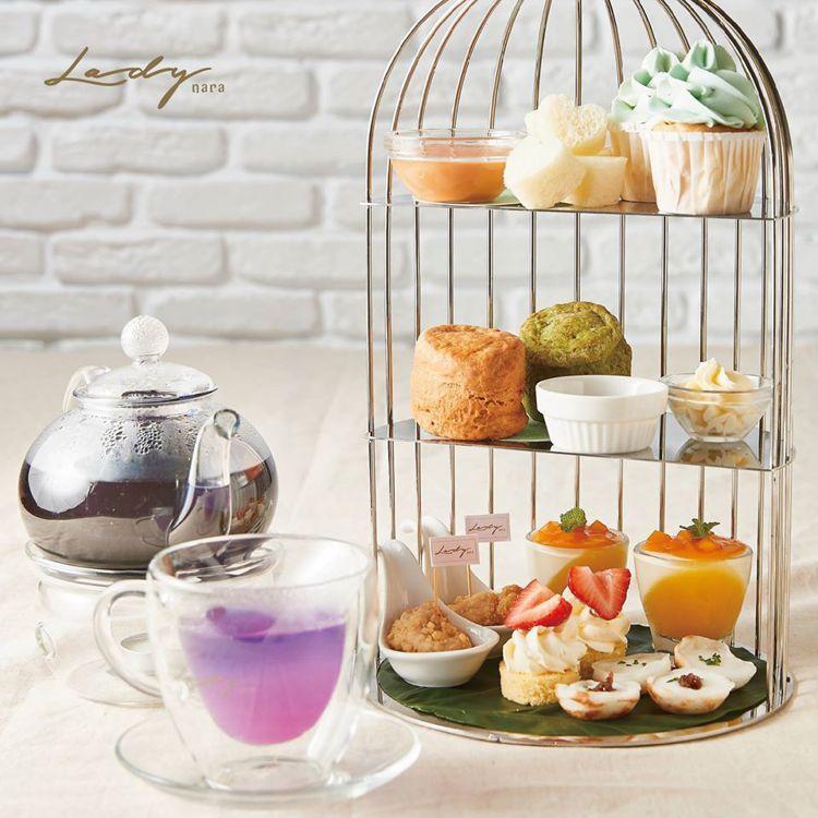 帶有夢幻感的下午茶,是Lady Nara的特色餐點之一。圖/擷取自Lady na...