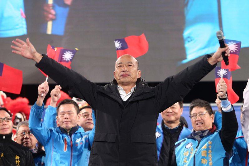 韓國瑜表示在高雄將近一年的政績攤在陽光下,心中沒有任何覺得對不起高雄市民。聯合報系資料照片