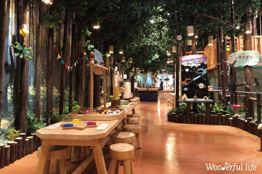 Wooderful Life在麗寶Outlet Mall二期打造木育森林。 圖/...
