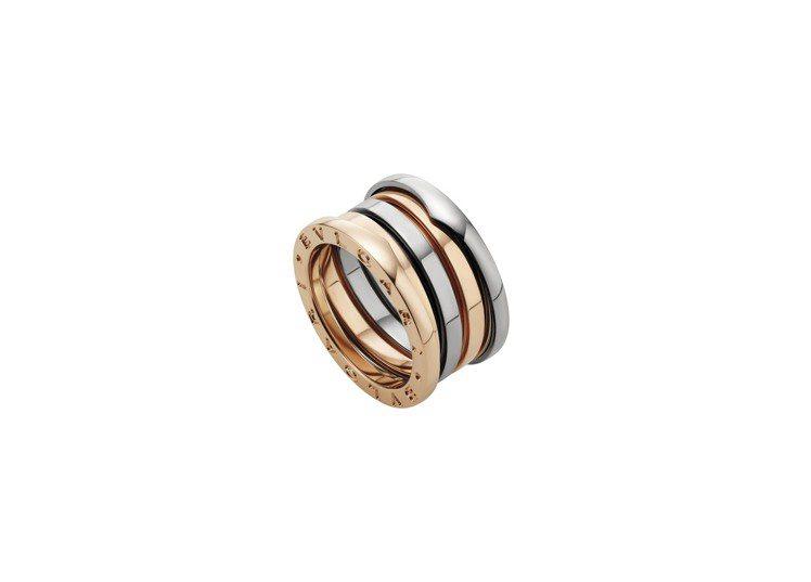 寶格麗B.zero1 Labyrinth 迷宮系列三環戒指,約66,200元。圖...