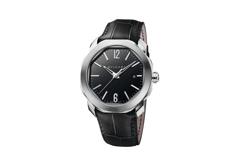 寶格麗OCTO ROMA腕表,不鏽鋼表殼,約18萬6,400元。圖/BVLGAR...