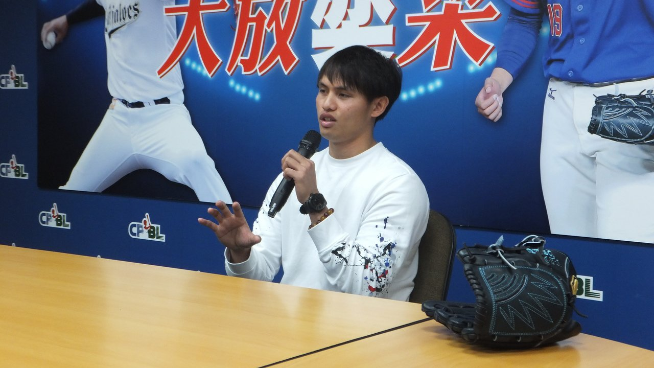 張奕在中華隊感受美式球風,明年想嘗試不同訓練。記者藍宗標/攝影