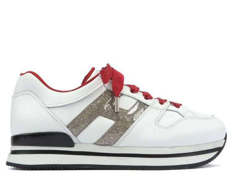 簡廷芮推薦農曆年限定款HOGAN H222果凍感閃粉皮革女士休閒鞋,19,900...