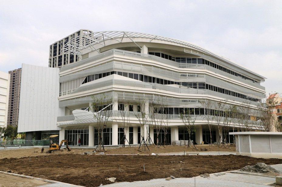 位於新莊的國家電影中心新場館,預計2021年完工啟用。圖/文化部提供