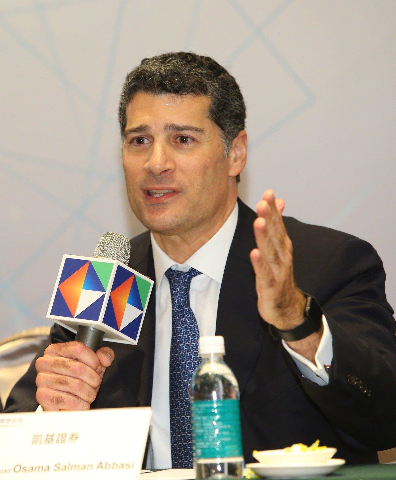開發金控子公司凱基證券副董事長Osama S.Abbasi將兼任總經理。(開發金...