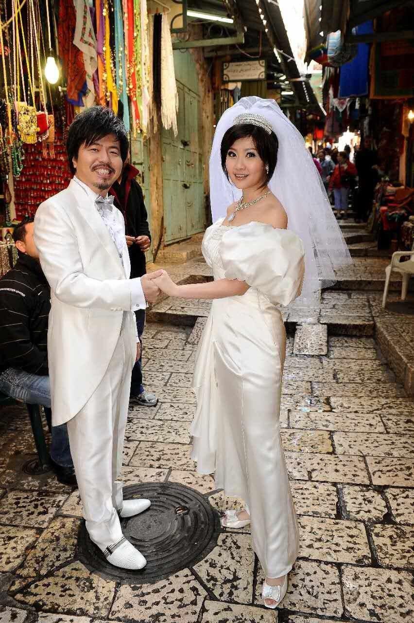 10年前在耶路撒冷兩人祕婚。圖/寇乃馨提供