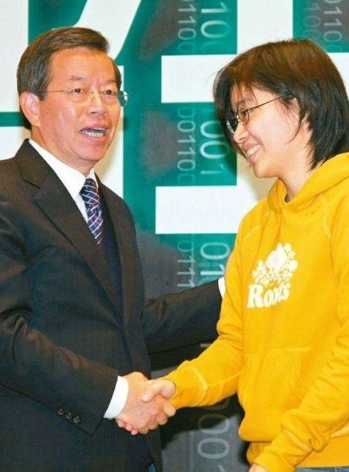 謝長廷與楊蕙如。圖/聯合報系資料照片