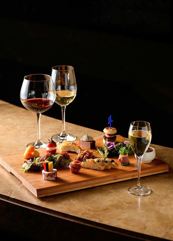 高雄國賓-高空酒吧跨年饗宴菜色。 高雄國賓大飯店/提供