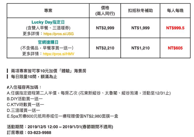 圖/花蓮福容大飯店官網