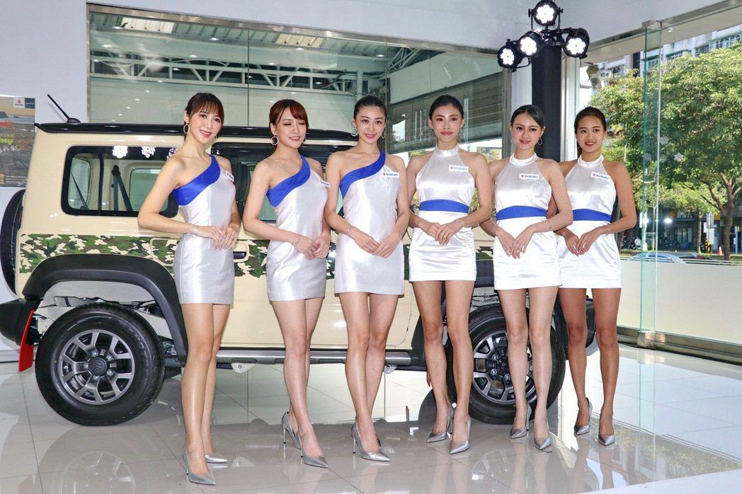 SUZUKI展區內將展出市售全車系及SUZUKI GIRLS一同現身。 記者陳威...