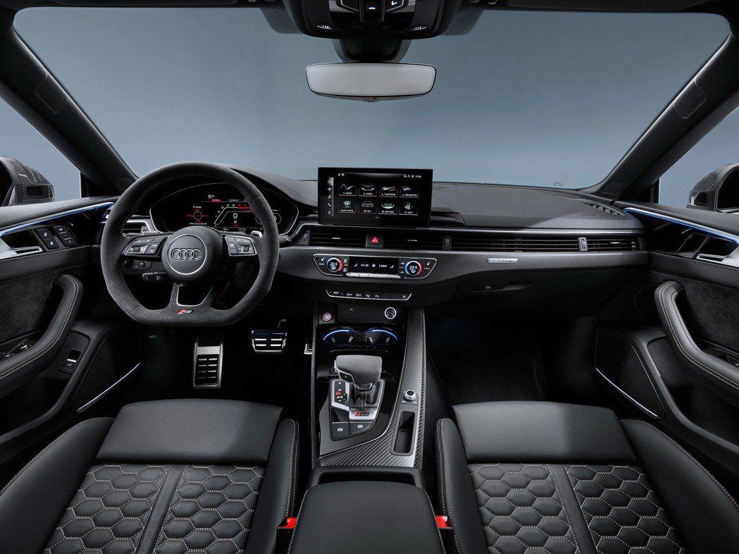 Audi RS 5 內裝布局。 圖/Audi提供