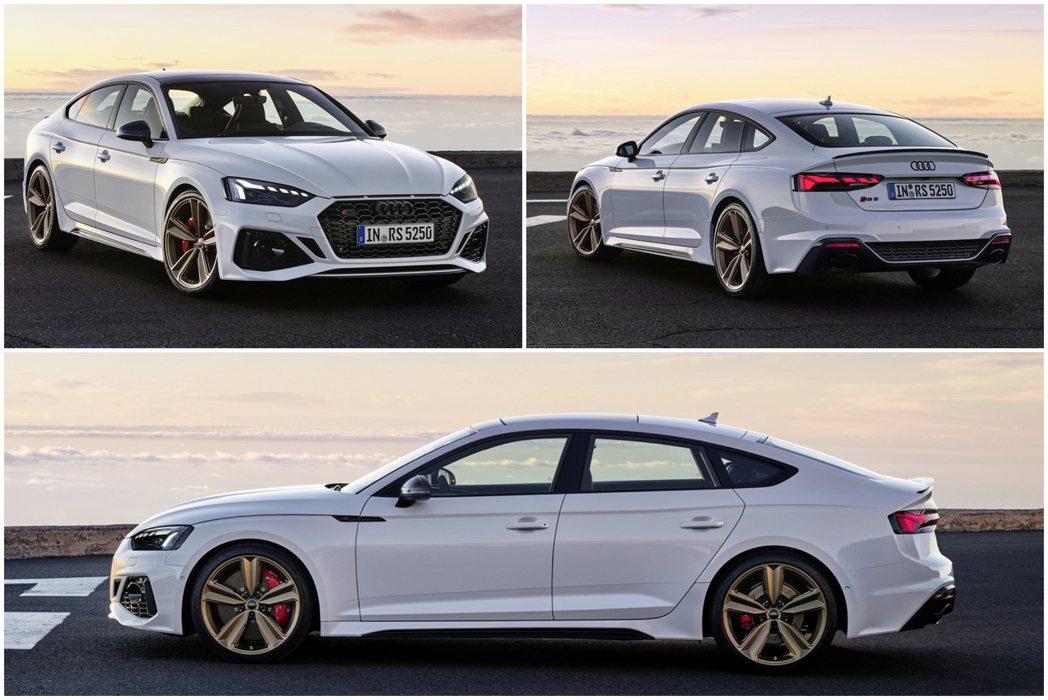新年式升級後的RS 5在前後保桿和側裙都做了造型的更新。 圖/Audi提供