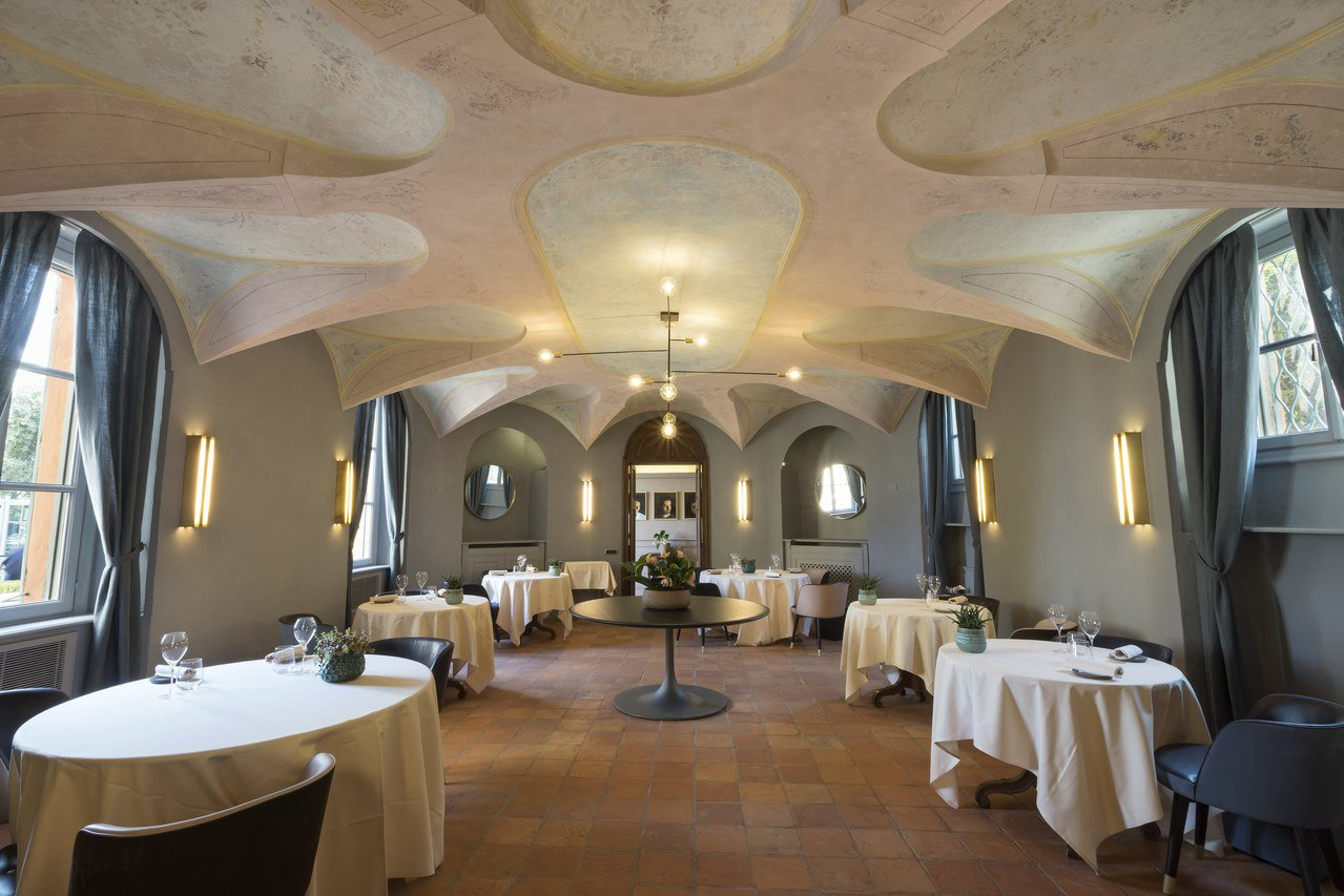 榮獲米其林一星的聖莊酒店Locanda del Sant'Uffizio餐廳。 ...