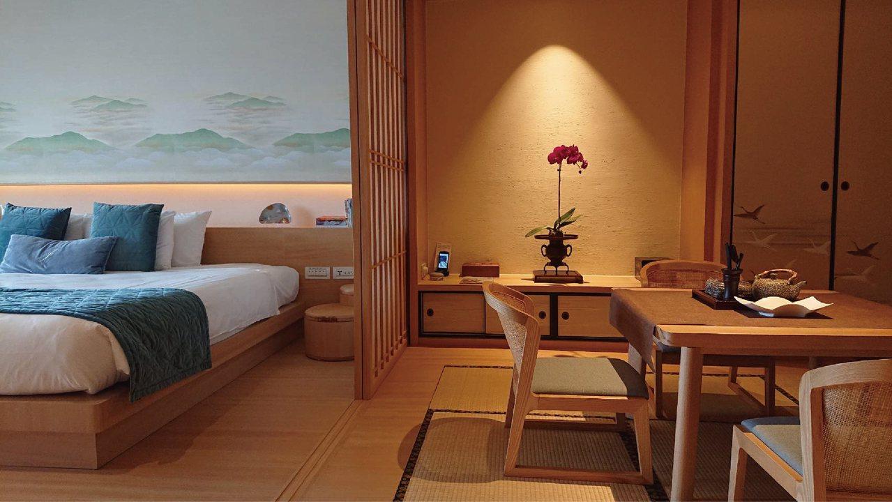 雲品溫泉酒店尊榮日式套房內部設計。 (雲朗集團提供)