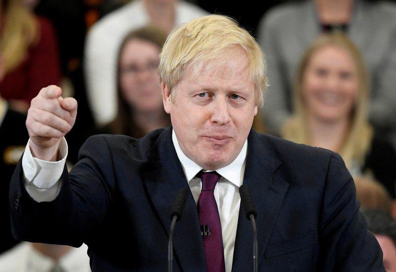 英國首相強生。路透