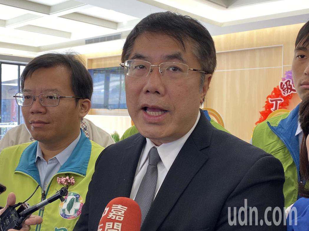 台南市長黃偉哲認為,兩岸對比起來,台灣國安法刑度相對輕很多。記者鄭維真/攝影