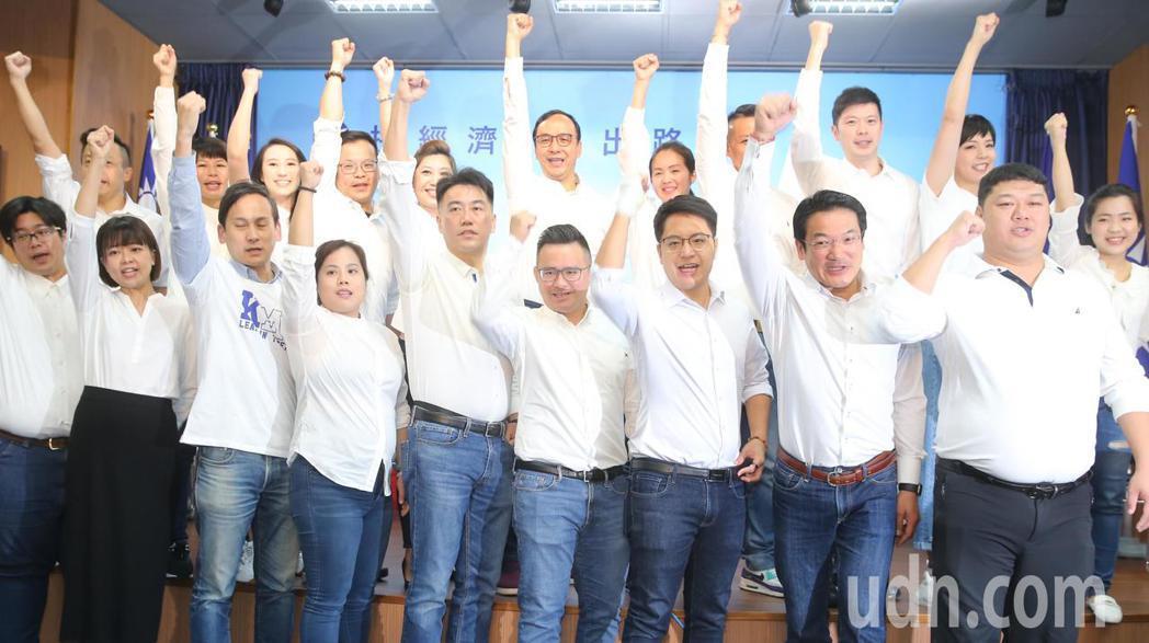 國民黨中央黨部上午舉行「決戰D-Day!30天突圍反攻 新世代戰鬥團成軍」記者會...