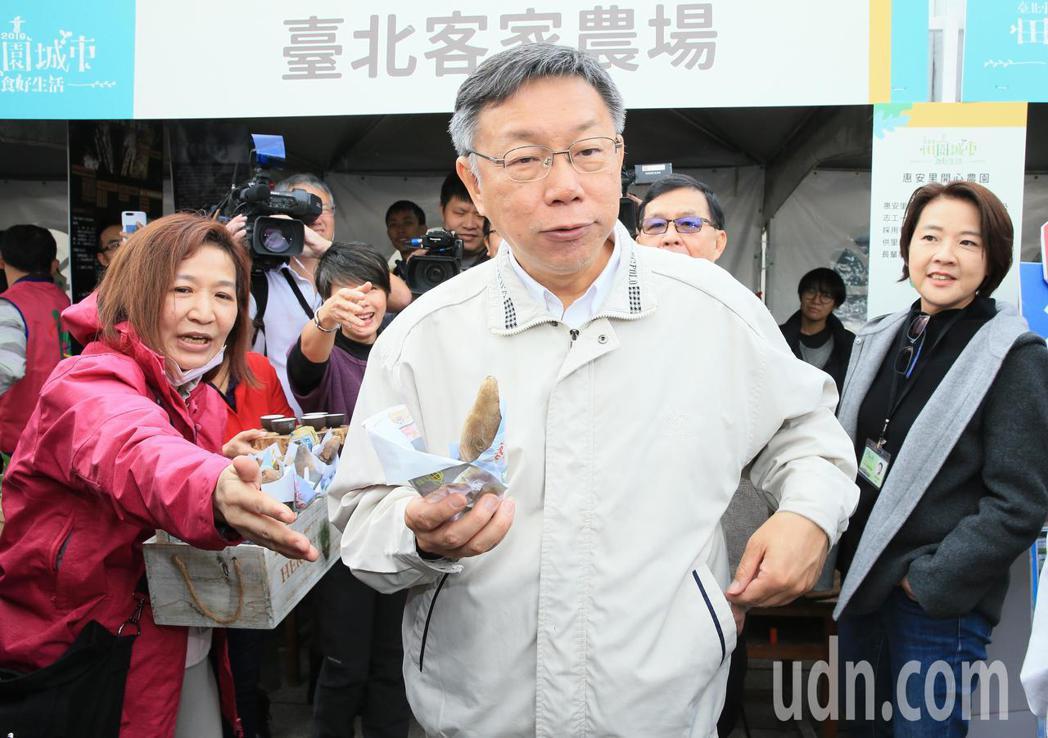 台北市長柯文哲上午回應時事。記者潘俊宏/攝影