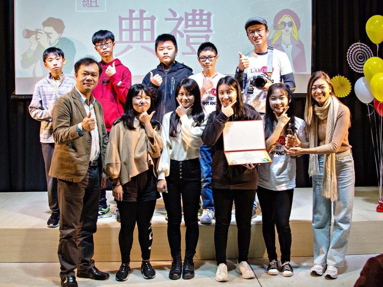 國華國中學生以「國華校歌MV」參賽,榮獲特優獎。 圖/縣府提供