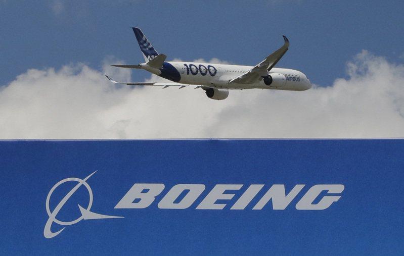 波音公司的訂單和交貨量遠落後於空中巴士公司。美聯社