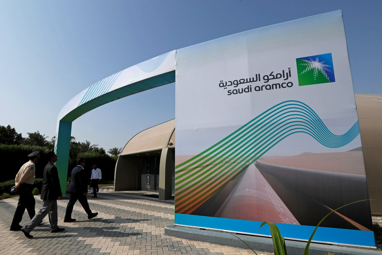 Aramco今天上市交易,股價開盤飆10%直奔漲停。 路透