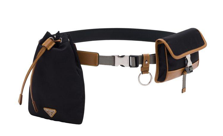 黑色多功能腰包,24,000元。圖/PRADA提供