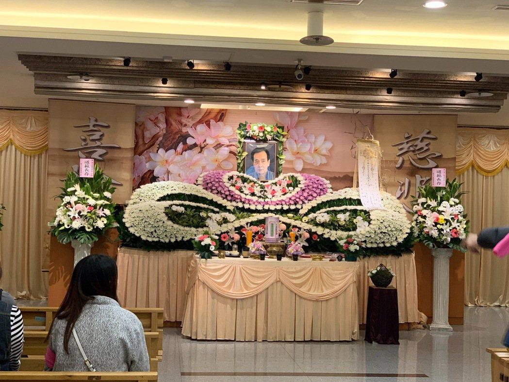 侯傑告別式於第二殯儀館舉行。記者陳慧貞/攝影
