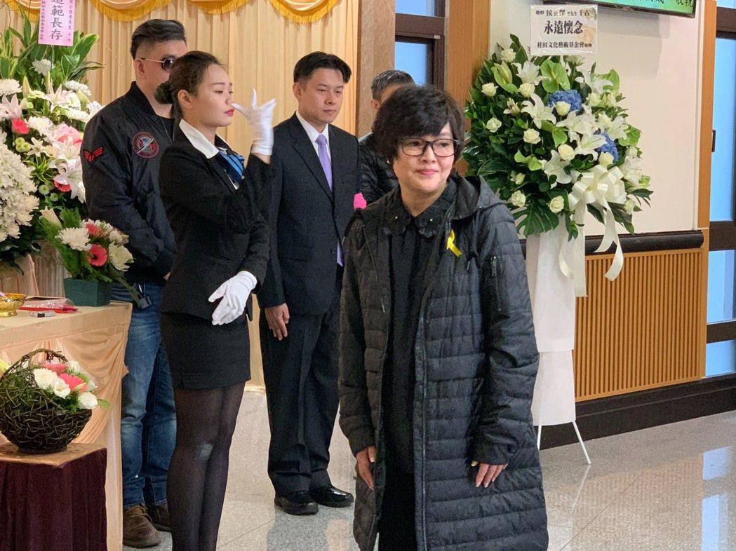 侯傑告別式,紀寶如所屬的台灣優質生命協會。記者陳慧貞/攝影