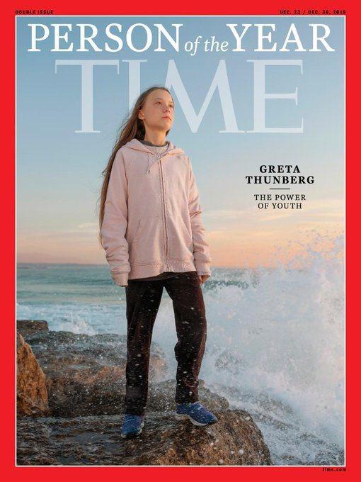 時代雜誌2019年度風雲人物為瑞典環保少女童貝里。