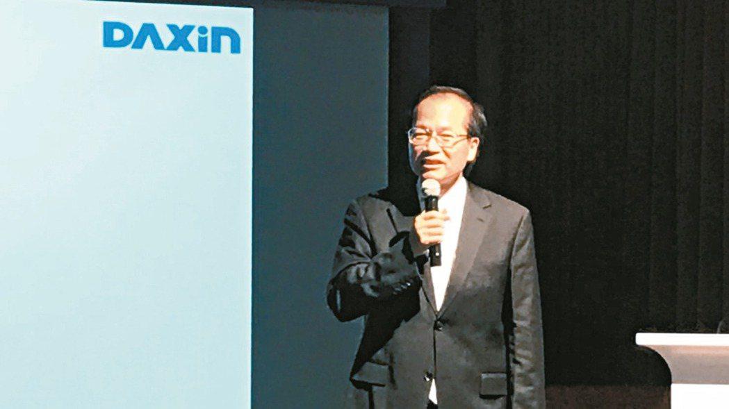 達興材料董事長林正一。 記者蔡銘仁/攝影