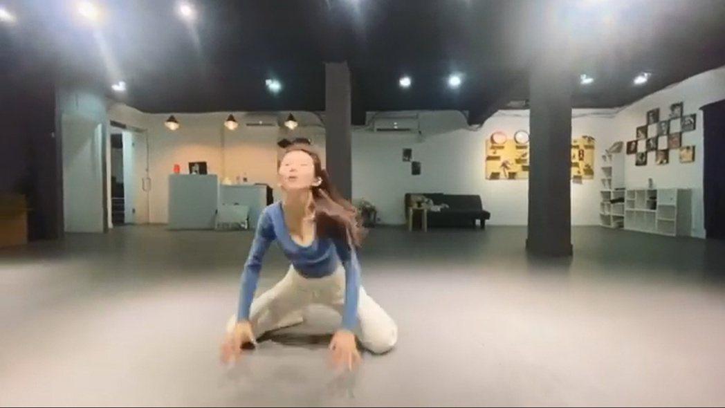 郭書瑤練舞片段。 圖/擷自郭書瑤IG