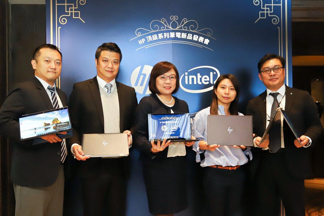 台灣惠普董事長王靜秀(中)近年帶領該公司成為台灣電腦品牌外商組第一。 彭子豪/攝...