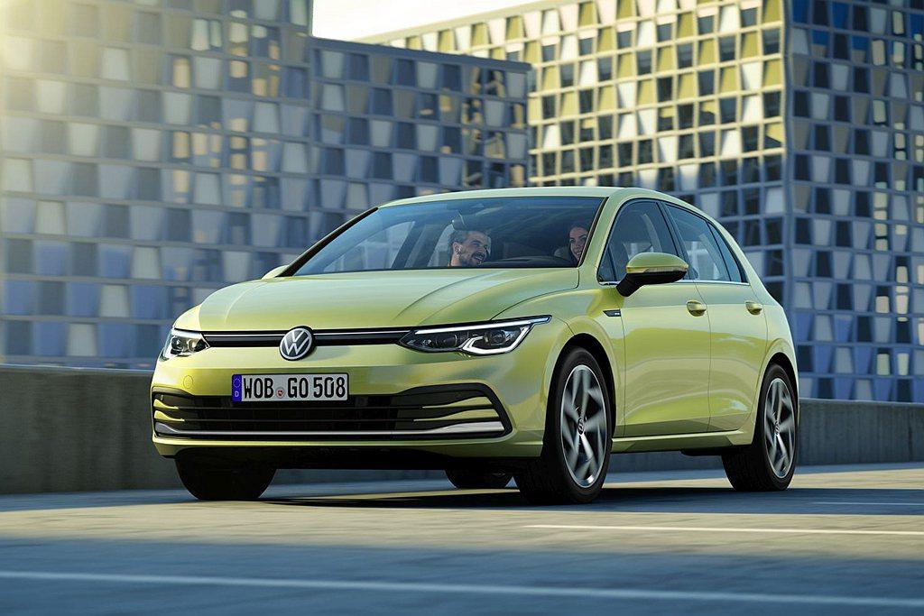 全新第八代福斯Golf,率先於德國市場開賣。 圖/Volkswagen提供
